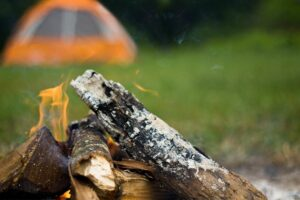 dispersed camping fire